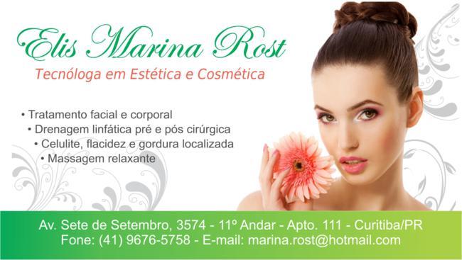 Cartao Elis Marina Rost